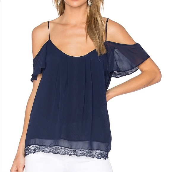 d3f13a5c80ebe9 Joie Tops - Joie Adorlee B Cold Shoulder Top Dark Navy Small
